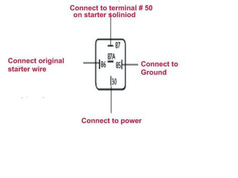 Wiring For Pin Starter Relay Shoptalkforums