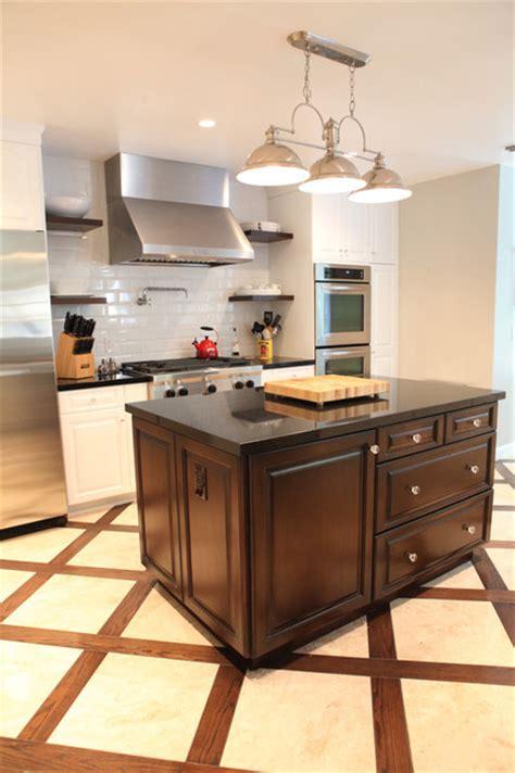 wooden kitchen floors oak to white transformation 1170
