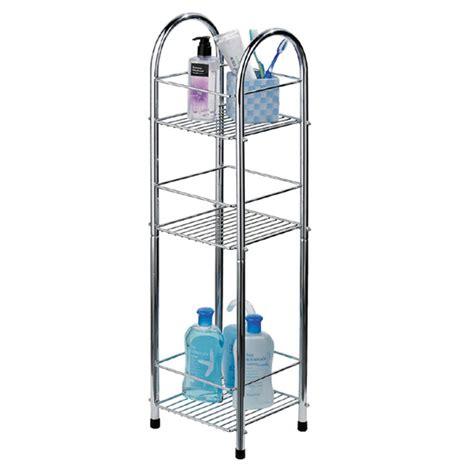 Chrome 3 Tier Bathroom Stand Smallnarrow  Freestanding