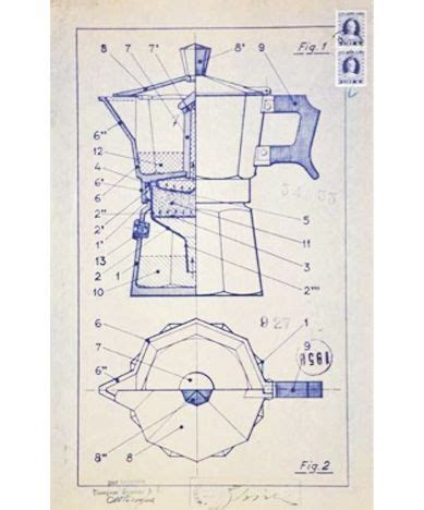 Espresso Maker Schematic by Blueprint For The Espresso Machine 1933 Alfonso Bialetti