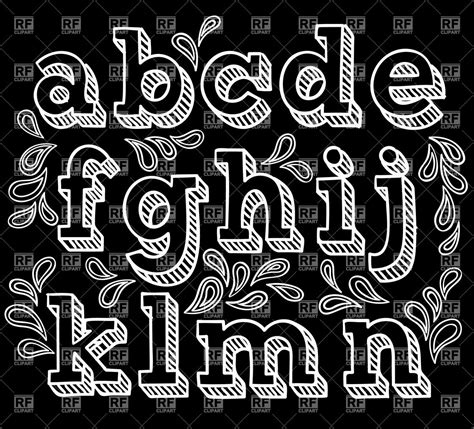 chalkboard font alphabet sketchy hand drawn font