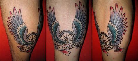30+ Fantastic Bike Wheel Tattoos