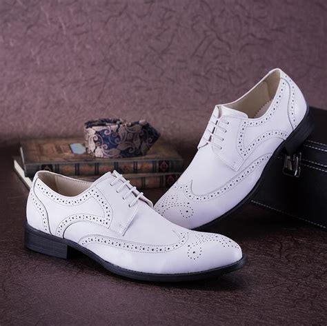 luxury mens wingtip dress shoes elegant mens white wedding