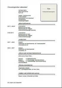 curriculum vitae format 2014 muster lebenslauf joblers