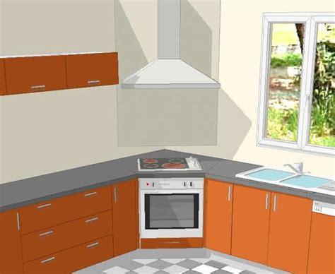 table angle cuisine croquis de la cuisson en angle dans une cuisine cuisine
