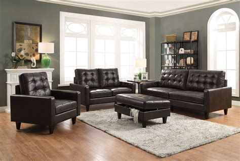 Espresso Leather Loveseat by Nate 2pc Sofa Loveseat Set 50260 In Espresso Leather Gel