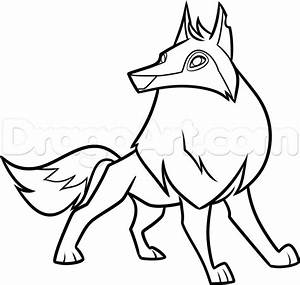 Draw an Animal Jam Arctic Wolf, Step by Step, Drawing ...