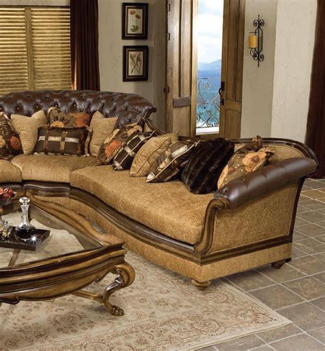 luxury tufted sectional sofa dark brown wood benettis