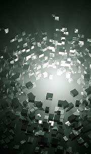 3D Grey Cubes wallpaper   スマホ壁紙/iPhone待受画像ギャラリー