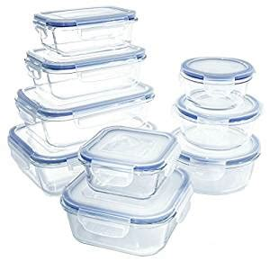 kitchen storage containers glass 18 glass food storage container set 6158