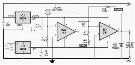 Diy Digital Thermometer Circuit