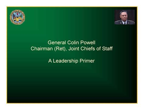 wildland fire leadership general colin powell  leadership