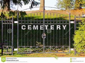 cemetery gate stock photo image 60483897 With iron gate letters