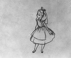 Milt Kahl's animation drawings for Alice in Wonderland ...