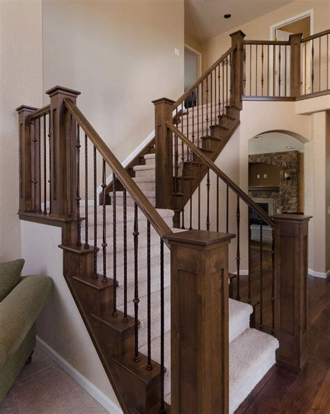 ideas  wood stair railings  pinterest stair banister banister rails