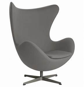 Fauteuil Pivotant Design : fauteuil pivotant egg chair tissu gabriele gris fonc fritz hansen ~ Teatrodelosmanantiales.com Idées de Décoration