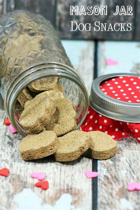 mason jar dog snacks homemade dog treat recipe dogvills