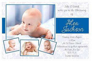 baptism invitations : Boy baptism invitations ...