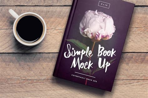 6x9 Book On Coffee Table Template Mockup