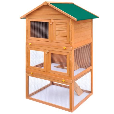 small animal hutch outdoor rabbit hutch small animal house pet cage 3 layers