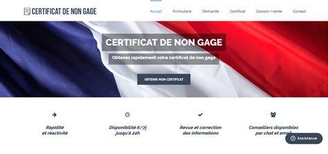 telecharger certificat de non gage certificat de non gage