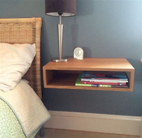 floating tables floating nightstand bedside table in white oak by krovelmade