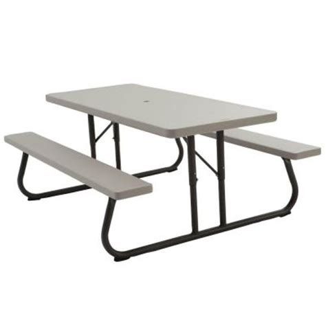 6 folding picnic table lifetime 6 ft folding picnic table in putty 2119 the