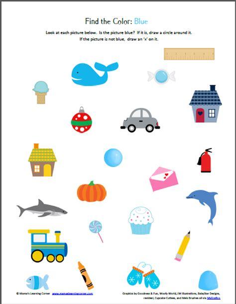 color recognition printable packet preschool printables school and homeschool