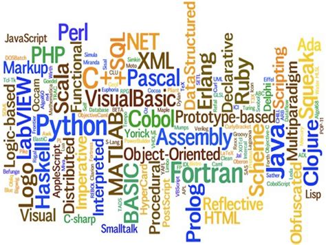 types and differences between programming languages