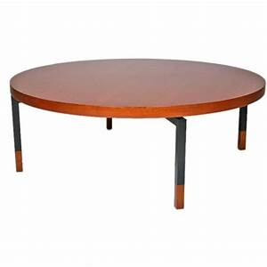 round teak coffee table with metal legs by illums bolighus With round coffee table with metal legs