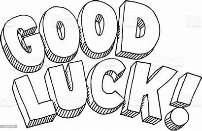 Luck Drawing Text Clipart Clip Desicomments Illustration