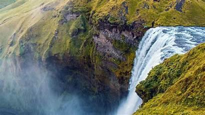 Meadow Waterfall Alpine Cliff Spectacular 10wallpaper