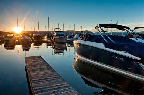 Boat At Marina Bay by Boat Moorage Shelter Bay Marina