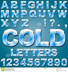17 The Word On It With Ice Or Snow Cold Fonts Images ...