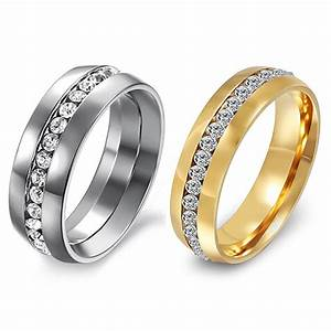 hot sell men s women s couple lover rhinestone titanium With size 11 womens wedding rings