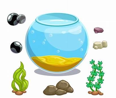 Fish Clipart Aquarium Tank Cartoon Decorations Icon