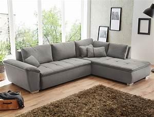 Couchbezug Für Eckcouch : wohnlandschaft corvin 280x210 cm grau funktionssofa ~ Watch28wear.com Haus und Dekorationen