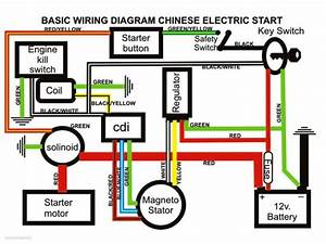 Full Electrics Wiring Harness Cdi Coil 110cc 125cc Atv Quad Bike Buggy Td