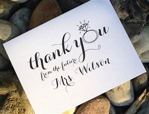 wedding bridal shower thank you cards thank you from the With wedding shower thank you gifts