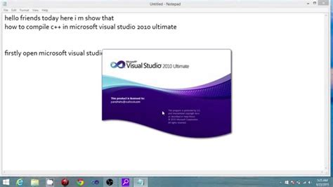 How To Compile C++ On Microsoft Visual Studio 2010