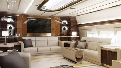 amazing  custom private jet interior design  sq ft