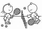 Tennis Racket Coloring Pages Getcolorings Printable Frokkie Lola sketch template