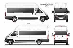 Peugeot Boxer Passenger Van 2017 L4h3 Blueprint Editorial