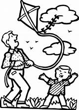 Kite Coloring Pages Fly Kites Clipart sketch template