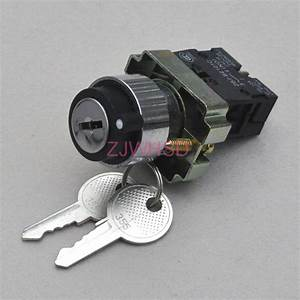 On  Off 2  Two  Position Selector Key Lock Rotary Switch