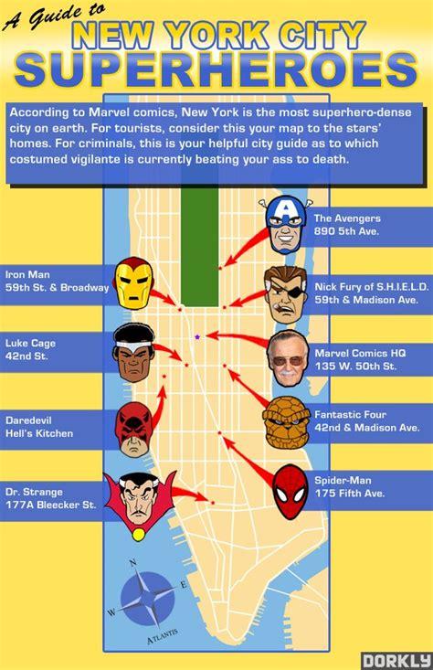 superhero star map  york city   place bit rebels