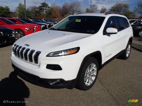 jeep cherokee white bright white 2014 jeep cherokee latitude exterior photo