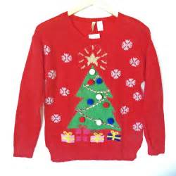 h m christmas tree red tacky ugly sweater the ugly sweater shop