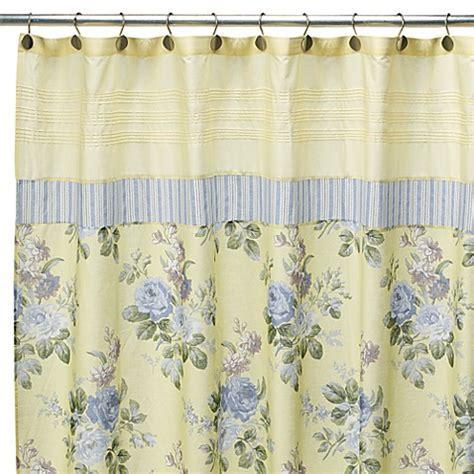 "Laura Ashley Caroline 72"" x 72"" Fabric Shower Curtain"