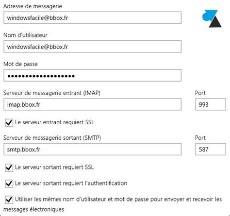 courrier ajouter une adresse bouygues ou bbox
